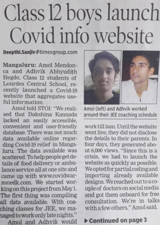 Times of India Newspaper - Part 1