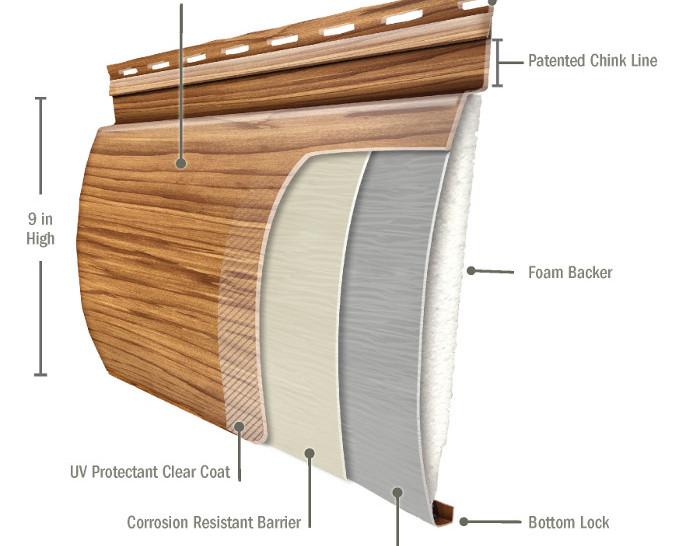 Steel Log Pine diagram