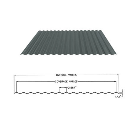 fabral 1/2 inch corrugated panel