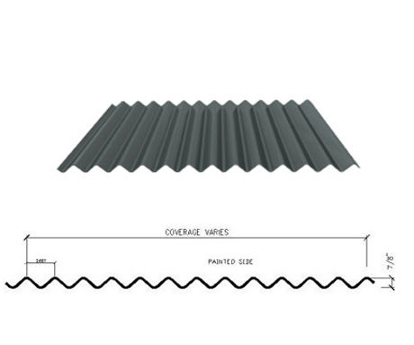 fabral 7/8 inch corrugated metal-panel