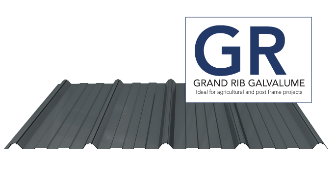 GRG Grand Rib Painted Galvalume 40 y