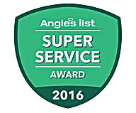 Monmouth County NJ Angie's List Super Servcie Award 2016