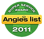Monmouth County NJ Angie's List Super Servcie Award 2011