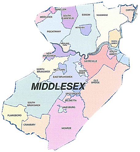 Middlesex County NJ Air Duct Cleaning Directory Map
