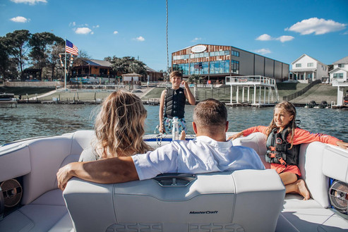 Summer camp located at Boat Town boat dealership.