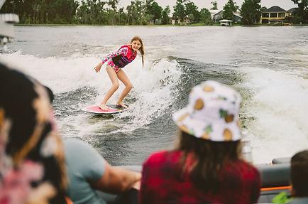 Wakeboard and wakesurf school on Lake LBJ.
