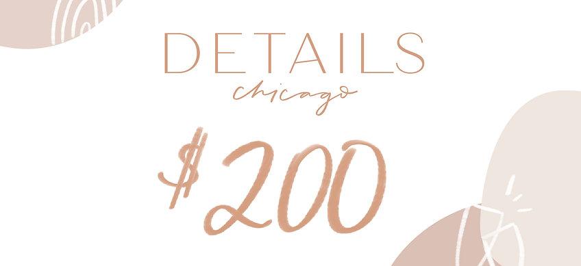 Details Chicago Gift Card—$200