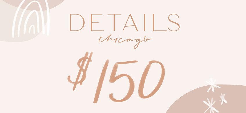 Details Chicago Gift Card—$150
