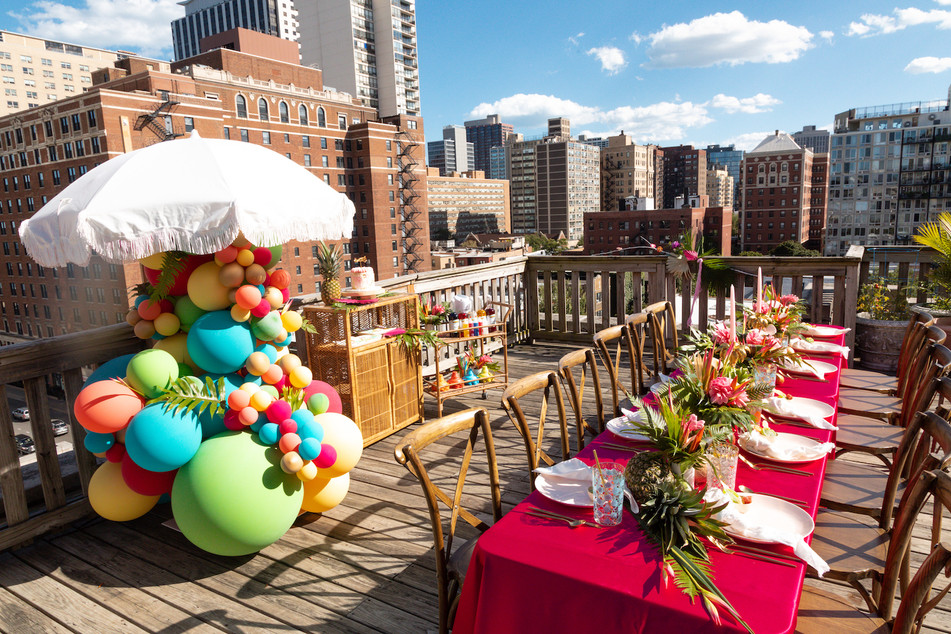 Details Chicago Rooftop Tropical Bithday
