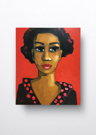 Portrait vor Rot
