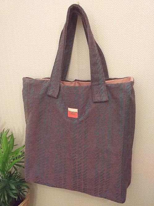 Cable Stripe Tote Bag