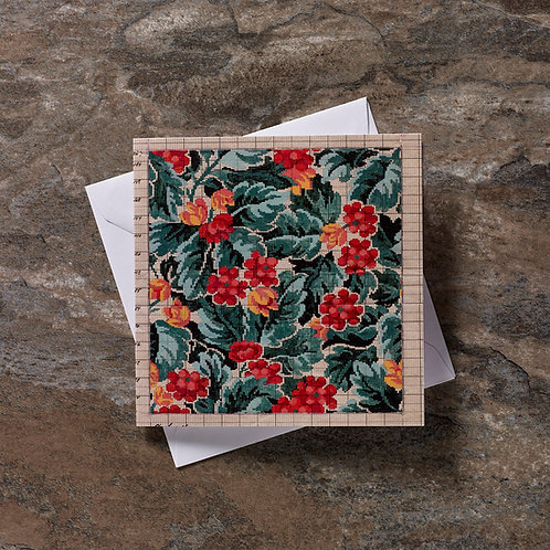 Square Floral Greeting Card