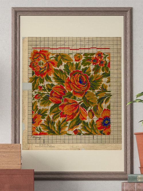 Orange Roses Point Paper