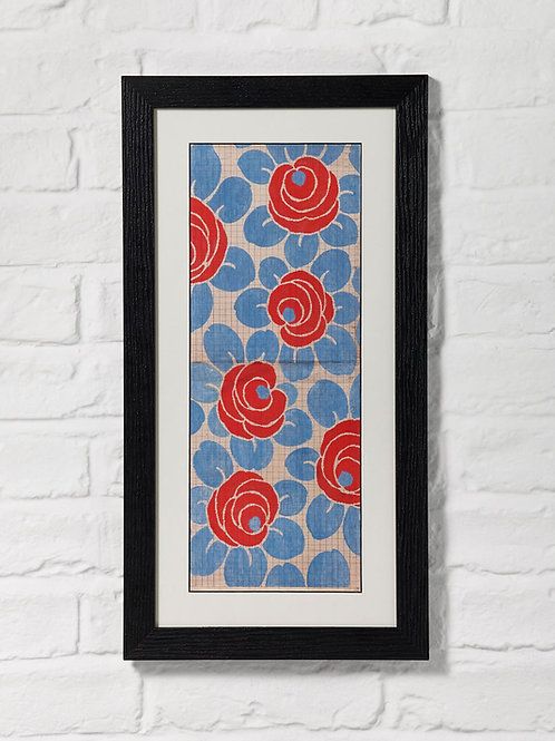 Red Blue Camellia Point Paper