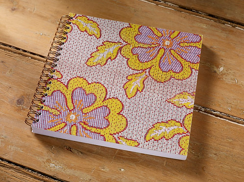 Yellow Red Pansy Notebook