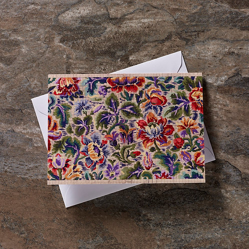 Multi Colour Floral Greeting Card