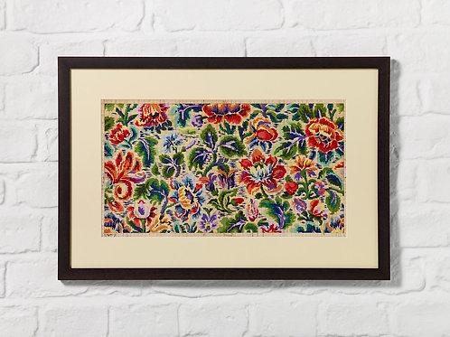 Multi Colour Floral Point Paper