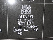 Breaton, Pte. Clarence R. (Clare)