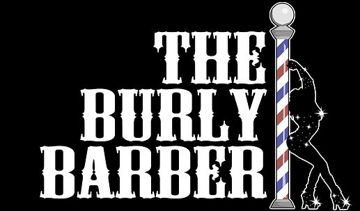The Burly Barber Logo created by Alan Wrench
