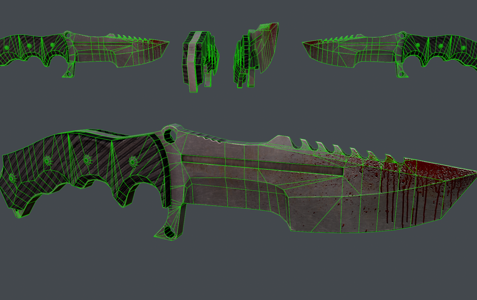 Heck Knife Wireframe