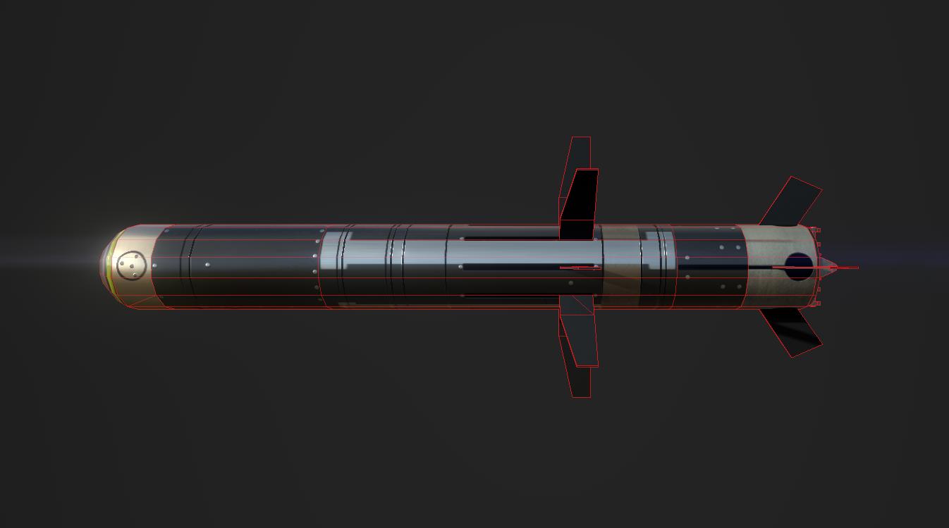Javelin Missile Wireframe