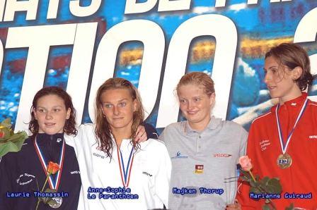 médaille du bec, podium filles