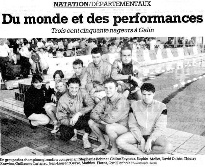 Equipe de natation du BEC à la piscine de Galin