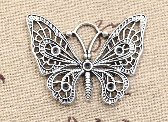 48x38mm Antique Butterfly Zinc Alloy Pendant for DIY Jewelry