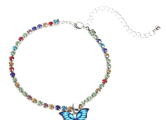 Colorful Butterfly Pendant Anklets
