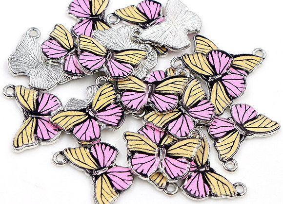 10pcs 19x16mm Butterfly Charms DIY Jewelry