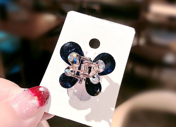 Colorful Crystal Butterfly Flower Hair  Clip