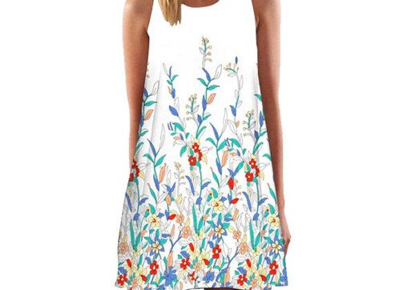 Fashion Butterfly Print Cute Chiffon Summer Dress