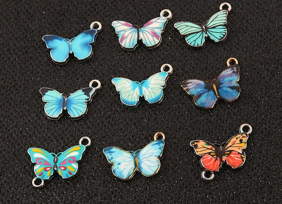 10pcs Butterfly Art Charms  for Jewelry Accessories