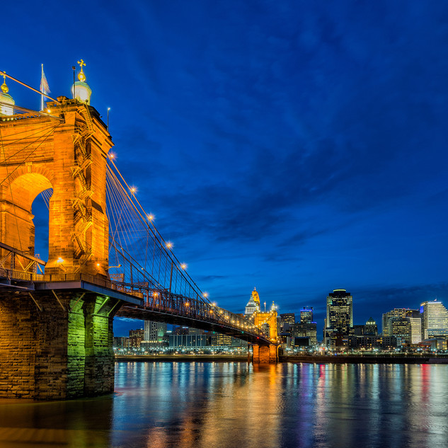 I'm from Cincinnati, OH. Fun fact: the historic Roebling Bridge was designed by the same architect as the Brooklyn Bridge (John A. Roebling)