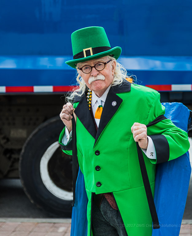 Mr. Leprechaun at the St. Patrick's Day Parade.