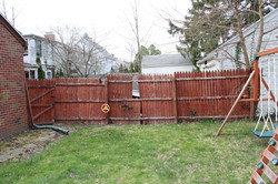 Back yard and Fence