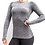 Thumbnail: Women's Seamless Charcoal Long-Sleeve