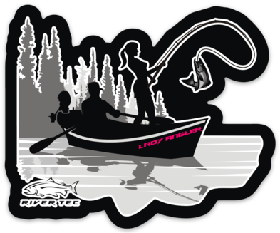 Lady Angler Pink Decal