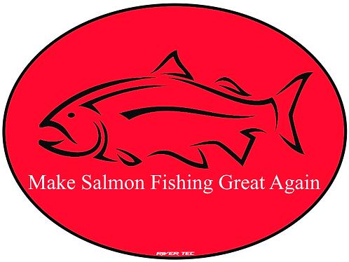 Make Salmon Fishing Great Again Decal