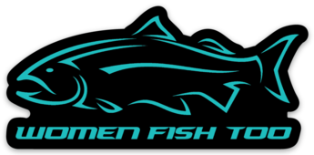 Women Fish Too Teal Decal