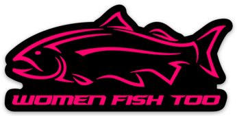Women Fish Too Pink Decal