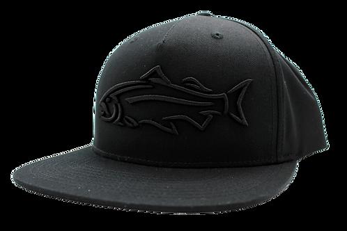 BLACK FISH FLAT BRIM