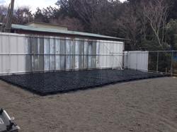 Laying greenhouse foundation