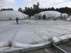 Preparing to roll dome