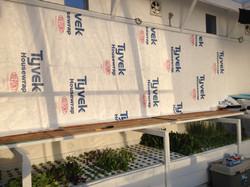Preparing wall for flora felt