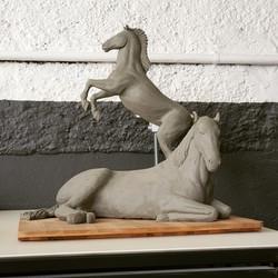 Modelle Pferde, Ton