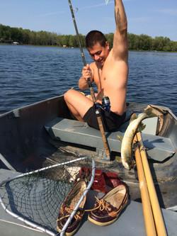 Fishing at Young Lake