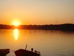 Young lake - beautiful sunsets