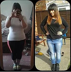 Female weight loss before and after