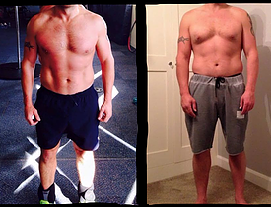 Male weight loss before and after